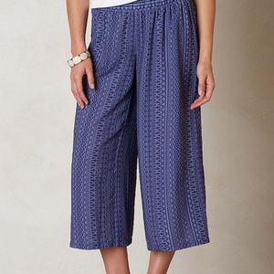 Prana Printed Purple Cropped Flowy Pants
